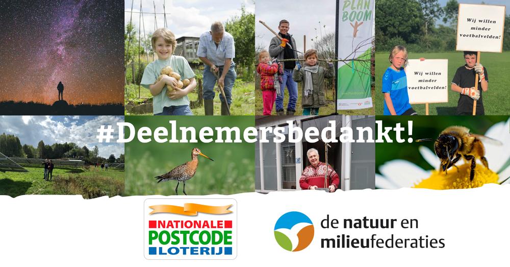 Postcode Loterij verlengt de samenwerking met de Natuur en Milieufederaties