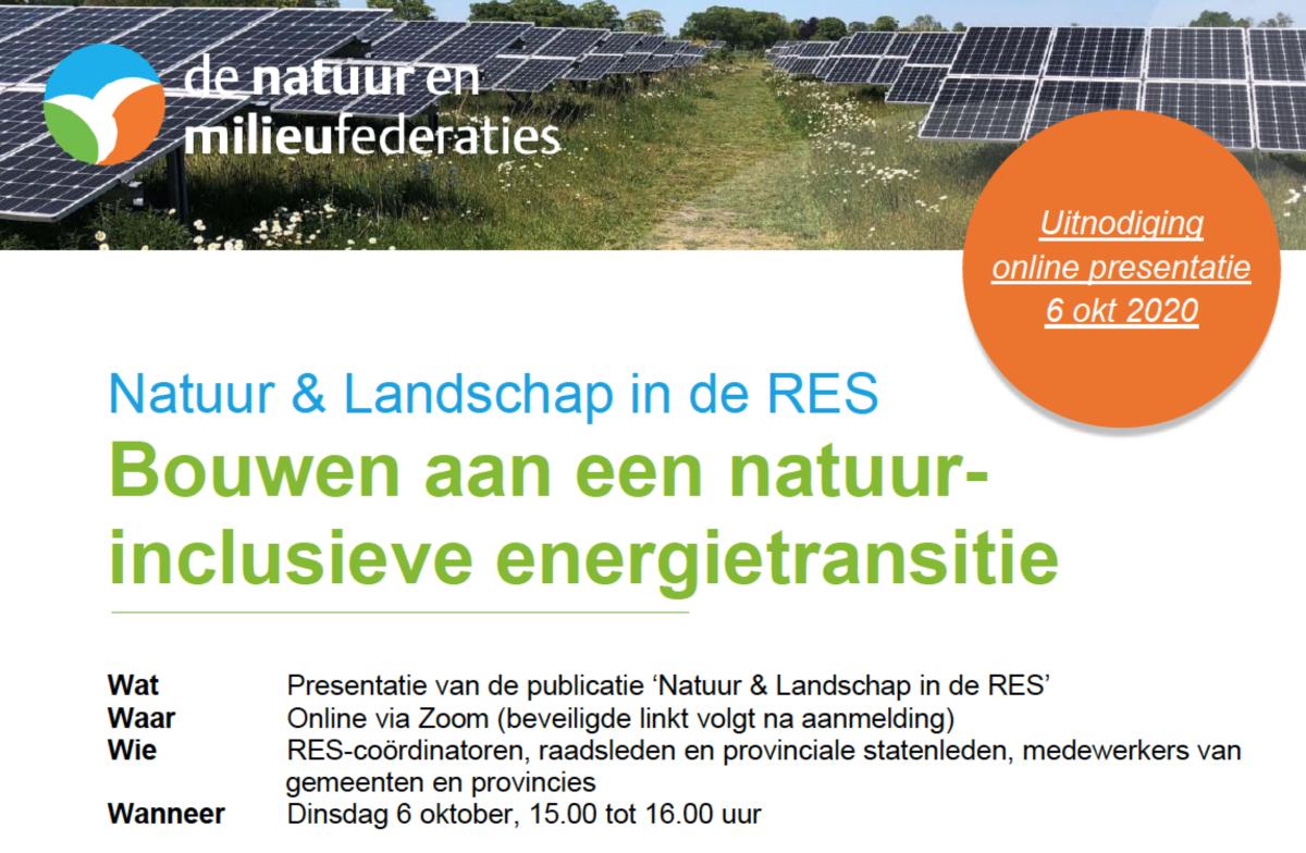 Presentatie: natuur en landschap in de energietransitie