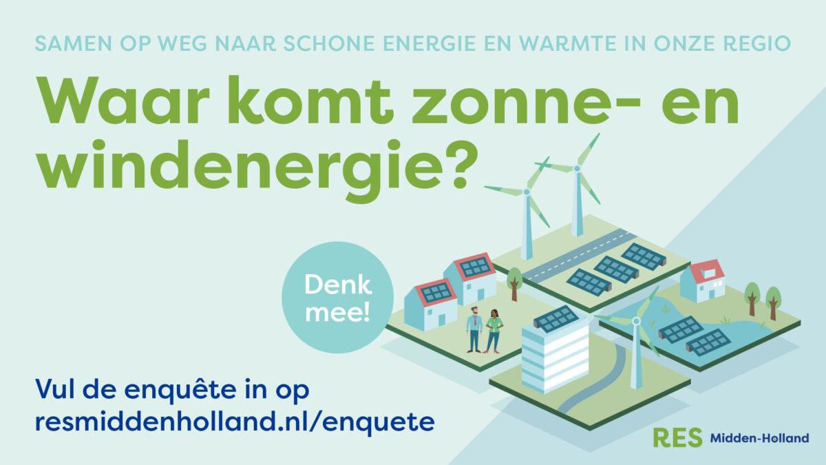 Tweede enquête RES Midden-Holland van start